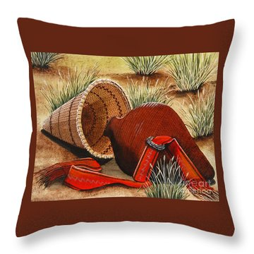 Paiute Baskets Throw Pillow by Jennifer Lake