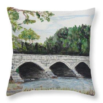 Pakenham Bridge Throw Pillow by Betty-Anne McDonald