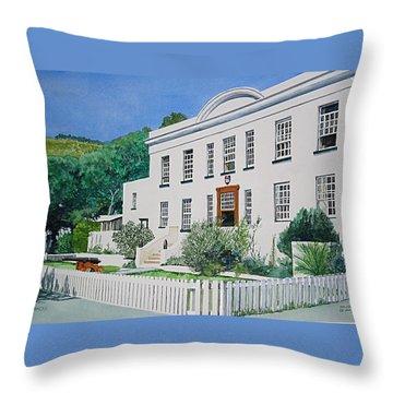 Palace Barracks Throw Pillow by Tim Johnson