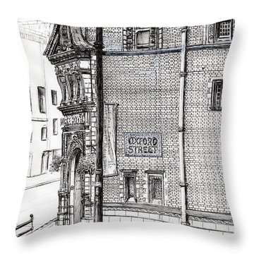 Palace Hotel Oxford Street Manchester Throw Pillow