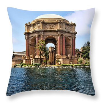 Throw Pillow featuring the photograph Palace Of Fine Arts by Kim Wilson
