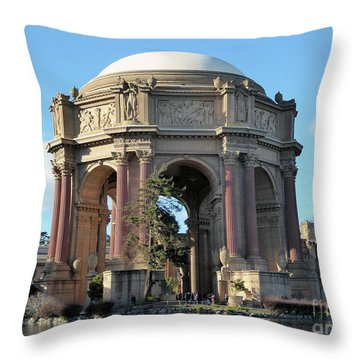 Palace Of Fine Arts Throw Pillow