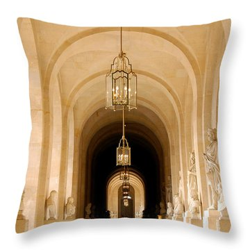 Palace Of Versailles Throw Pillow