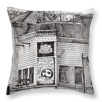 Palace Theater Manchester Throw Pillow