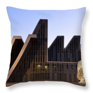 Palacio De Congresos Zaragoza Spain Throw Pillow by Marek Stepan