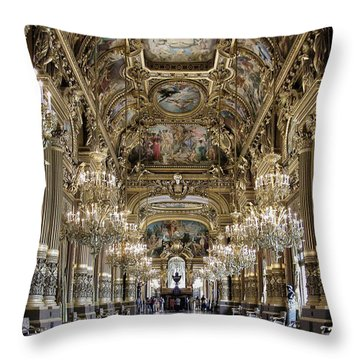 Palais Garnier Grand Foyer Throw Pillow