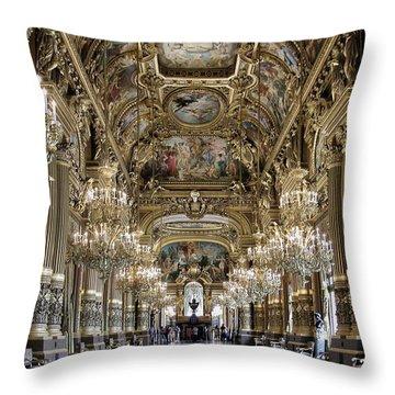 Palais Garnier Grand Foyer Throw Pillow by Alan Toepfer