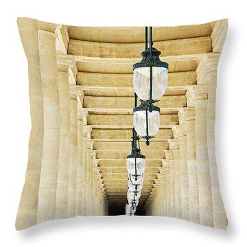 Palais-royal Arcade - Paris, France Throw Pillow