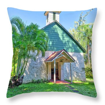 Throw Pillow featuring the photograph Palapala Ho'omau Congregational Church by Jim Thompson