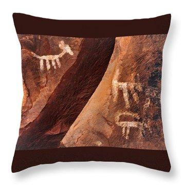 Palatki Pictographs9 Pnt Throw Pillow