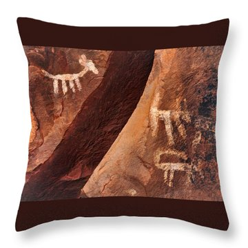 Palatki Pictographs9 Pnt Throw Pillow