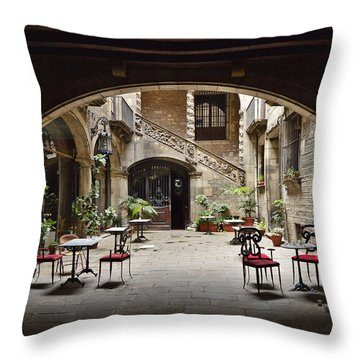 Palau Dalmases Espai Barroc Throw Pillow by Marek Stepan