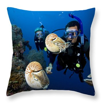 Palau Underwater Throw Pillow by Dave Fleetham - Printscapes