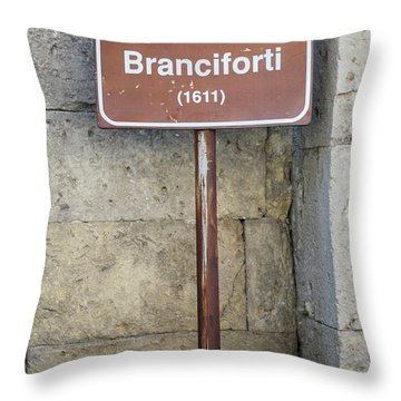 palazzo Branciforte 1611 Throw Pillow by Caroline Stella