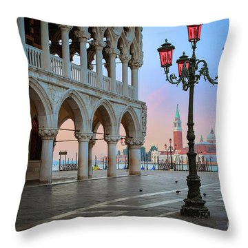 Palazzo Ducale Throw Pillow by Inge Johnsson