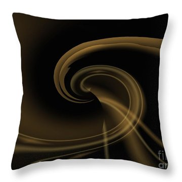 Pale Darkness - Abstract Throw Pillow