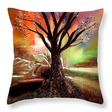 Pale Moonlight 2 Throw Pillow