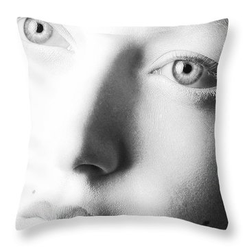 Pale Moonlight Throw Pillow by Robert WK Clark