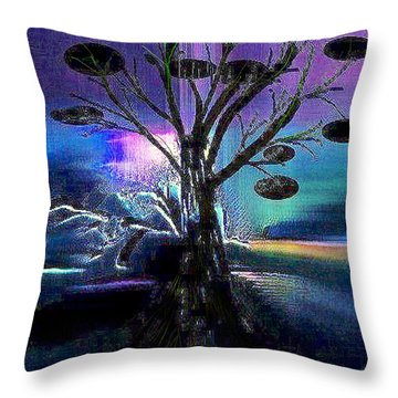 Pale Moonlight Throw Pillow