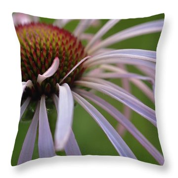 Pale Petals Throw Pillow