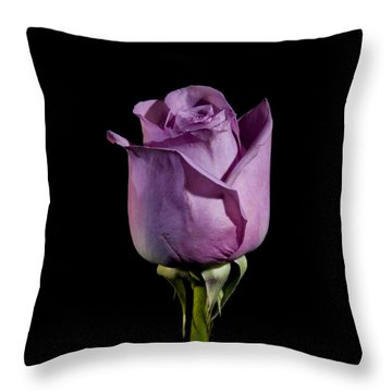 Pale Purple Rose Throw Pillow