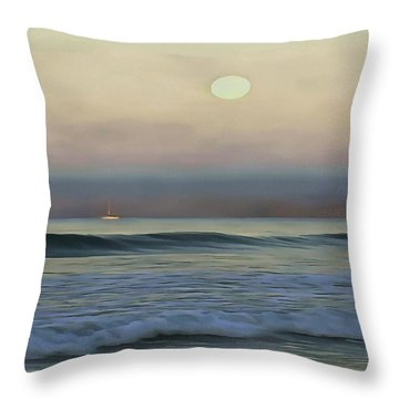 Pale Sunset Throw Pillow