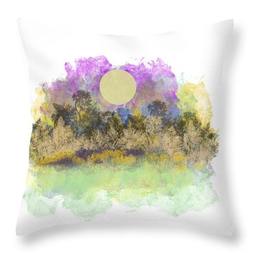 Pale Yellow Moon Throw Pillow