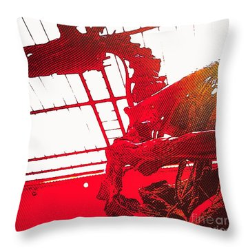 Paleo Figther Throw Pillow