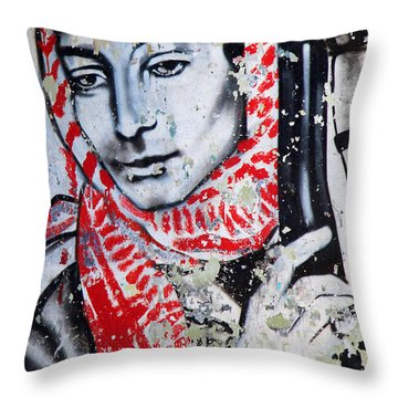 Palestinian Icon Throw Pillow by Munir Alawi