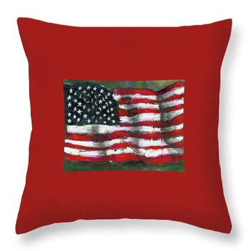 Palette Flag Throw Pillow
