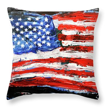 Palette Of Our Founding Principles Throw Pillow
