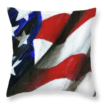 Palette Used To Paint Tn Heros Throw Pillow