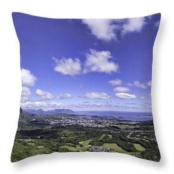 Pali Lookout Panorama Throw Pillow