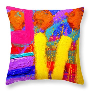 Palimpsest Ix Throw Pillow by John  Nolan
