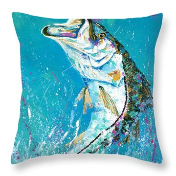 Pallet Knife Jumping Snook Throw Pillow