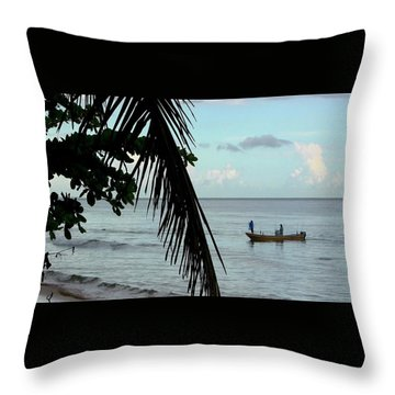 Palm And Tree Throw Pillow