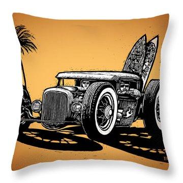 Palm Beach Throw Pillow by Bomonster