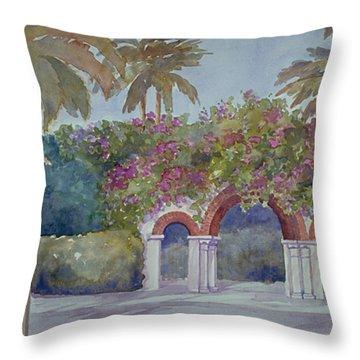 Palm Beach Gates Throw Pillow
