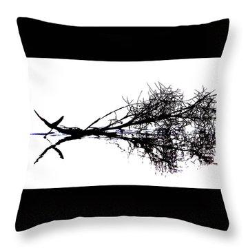 Palm Branch At The Beach Throw Pillow