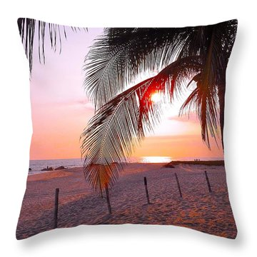 Palm Collection - Sunset Throw Pillow