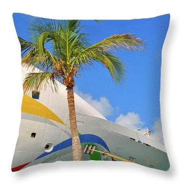 Throw Pillow featuring the photograph Palm Cruise by Jost Houk