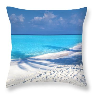 Palm Escape -  Part 3 Of 3 Throw Pillow