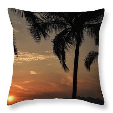 Palm Friends Throw Pillow by Nikki McInnes