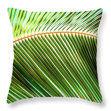 Palm Frond Sway Throw Pillow