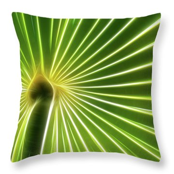 Palm Glow Throw Pillow