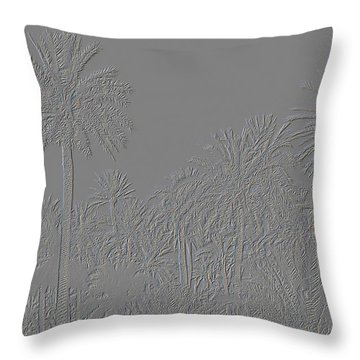 Palm Grove Throw Pillow