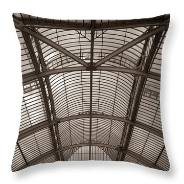 Throw Pillow featuring the photograph Palm House At Kew by Tom Vaughan