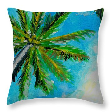 Palm In The Sky Throw Pillow