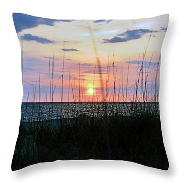 Palm Island II Throw Pillow