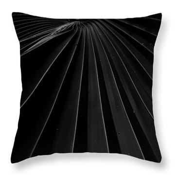 Palm Leaf Throw Pillow by Roger Mullenhour